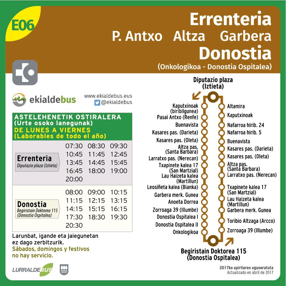 E06 Errenteria-P.Antxo-Donostia (Onkologikoa)