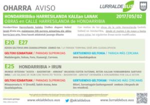 Hondarribia - Abril - Obras Harresilanda - E20_E25_E27