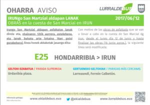 Irun- Asfaltado cuesta San Marcial - 12 junio