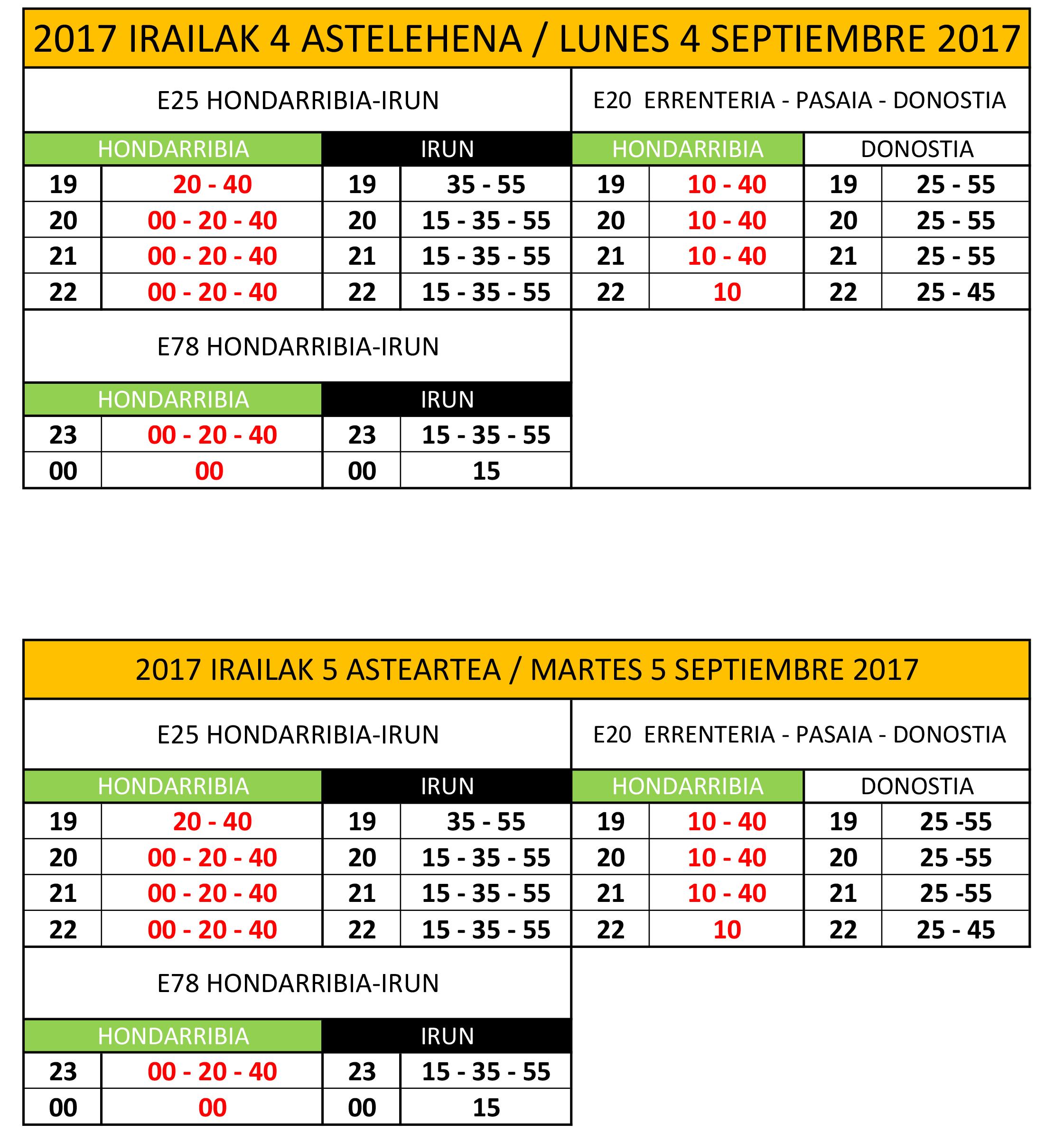 horarios al público 2017 4-5