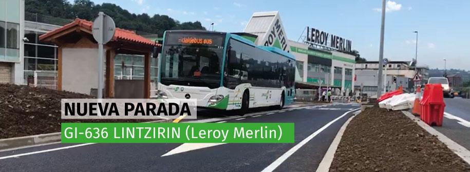 Nueva Parada En Lintzirin Leroy Merlin Ekialdebus
